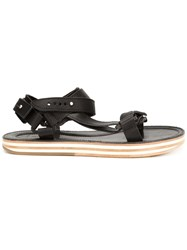 Sacai Strappy Flat Sandals Black