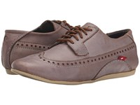 Oliberte Praia Light Grey Brushed Women's Lace Up Casual Shoes Brown