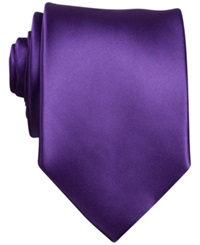 Perry Ellis Sateen Solid Tie Purple