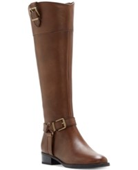 Inc International Concepts Women's Fedee Wide Calf Tall Boots Only At Macy's Women's Shoes Cement