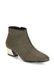 Alice Olivia Paxton Studded Leather Booties Black