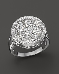 Bloomingdale's Diamond Mosaic Statement Ring In 14K White Gold 1.45 Ct. T.W.