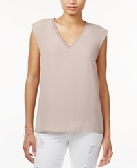 Bar Iii V Neck Cap Sleeve Top Only At Macy's Vintage Bisque