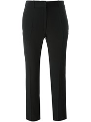 Victoria Beckham Cropped Tailored Trousers Black