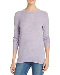 Bloomingdale's C By Crewneck Cashmere Sweater Marled Violet