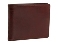 Bosca Old Leather New Fashioned Collection Executive Id Wallet Dark Brown Leather Bi Fold Wallet