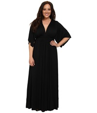Rachel Pally Plus Plus Size Long Caftan White Label Black Women's Dress