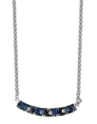 Effy Sapphire And 926 Sterling Silver Bar Necklace