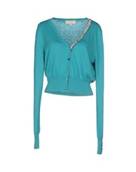 Met And Friends Knitwear Cardigans Women Turquoise