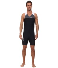 Louis Garneau Men Comp Suit Iron Gray Black Men's Race Suits One Piece