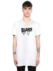 Rta Revenge Floceked Cotton Jersey T Shirt