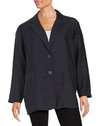 Eileen Fisher Cotton Blazer Blue