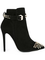 Philipp Plein Studded Ankle Boots Black