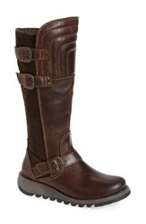 Fly London Women's 'Sher' Knee High Boot Dark Brown Expresso Oil Suede