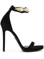 Versace Ankle Strap Sandals Black