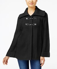 Jm Collection Petites Petite Toggle Front Cardigan Only At Macy's Deep Black