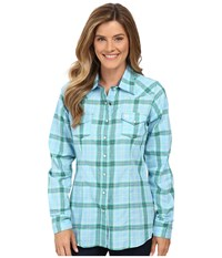Cinch Cotton Plain Weave Fit Light Blue Women's Clothing