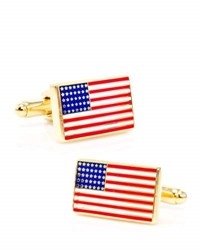 Cufflinks Inc. Golden American Flag Cuff Links