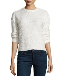 Chelsea And Theodore 3 4 Sleeve High Low Sweater Ivory Towe