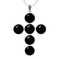Kiki Minchin Black Onyx Cross Small