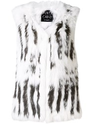 Dolce Cabo Fur Waistcoat White