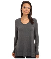 Lysse Scoop Drape Top W Backbeautiful Charcoal Women's Clothing Gray
