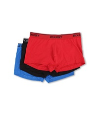 2Xist Stretch 3 Pack No Show Trunk Red Black Skydiver Men's Underwear Multi