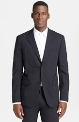 Men's Theory 'Wellar New Tailor' Trim Fit Wool Blend Sport Coat Black