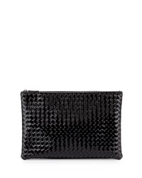 Bottega Veneta Large Zip Top Cosmetics Bag Nero Black
