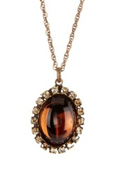 Liz Palacios Crystal And Glass Cabochon Pendant Necklace No Color