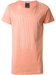 Odeur Askew Front Print T Shirt Pink And Purple