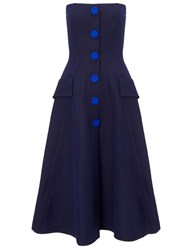 Derek Lam Navy Sleeveless Button Front Dress