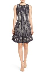 Nic Zoe Petite Women's 'Dashed Diamonds' Fit And Flare Twirl Dress Multi