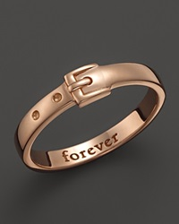 Monica Rich Kosann 18K Rose Gold Forever Posey Ring With Buckle