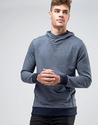 Jack And Jones Overhead Hoodie With Front Pocket Navy
