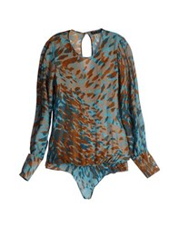Brian Dales Shirts Blouses Women Turquoise