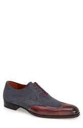 Mezlan 'Ronda' Spectator Shoe Men Burgundy Grey
