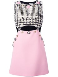 Fausto Puglisi Embellished Cut Out Dress Pink And Purple