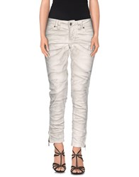 Galliano Denim Denim Trousers Women Ivory