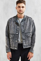 Bdg Acid Wash Denim Relaxed Trucker Jacket Black