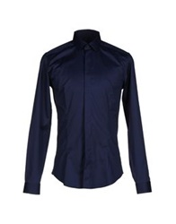 Frankie Morello Shirts Dark Blue