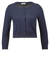 Maxandco. Composto Cardigan Navy Blue Dark Blue