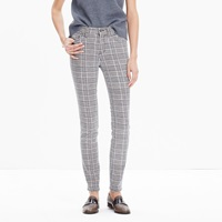 Madewell 9' High Riser Skinny Skinny Jeans In Houndstooth Plaid