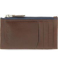 Ted Baker Zipped Leather Cardholder Tan