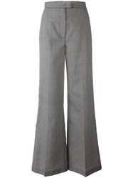 Msgm Houndstooth Flared Trousers Black