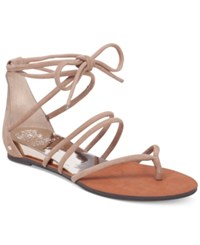 Vince Camuto Adalson Strappy Lace Up Flat Sandals Women's Shoes Cashmere