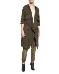 Haute Hippie Overlay Flare Trench Coat Military