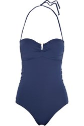 Tart Collections Aloni Ruched Halterneck Swimsuit Indigo