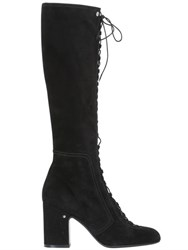 Laurence Dacade 70Mm Mina Lace Up Suede Boots