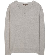 Loro Piana Scollo V Franklin Cashmere Sweater Grey
